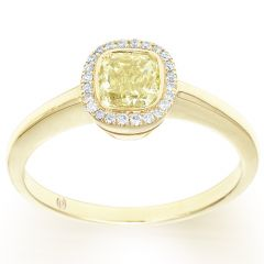 Yellow Diamond Simple Halo