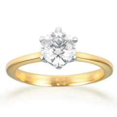 Forevermark Solitaire Yellow Gold