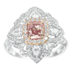 Cushion Pink Flower Ring