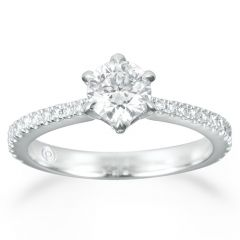 Forevermark Solitaire with Diamond Shank