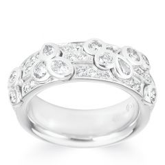Cerchio White Gold Ring Petite