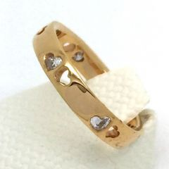 Diamond and Hollow Heart Ring