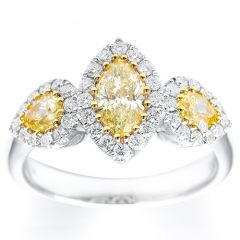 Marquise and Pears Fancy Yellow