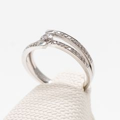 Splayed Shank Diamond Set Ring