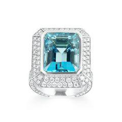 Aquamarine dress ring