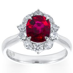 Ruby Marquise Cluster