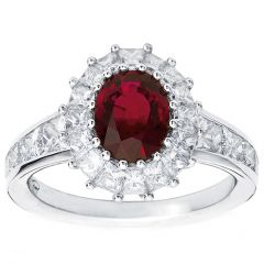Ruby Cluster with Princess Shoulders