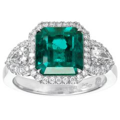 Emerald with Pears and Halo