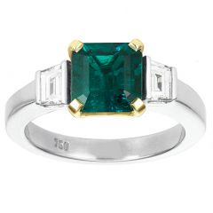 Yellow Claw Emerald Ring