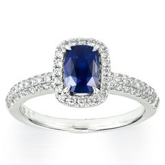 Ceylon Sapphire with a Pave Band