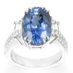Sapphire & Cadillac Ring