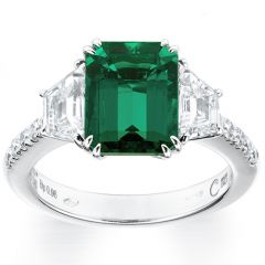 Emerald with Trapezoid