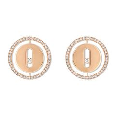 Lucky Move Stud Earrings Rose Gold