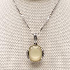 Oroverdi and Diamond Pendant
