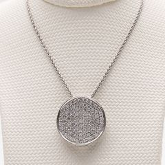 White Gold Pendant on Chain