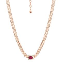 Ruby on Chain Necklace