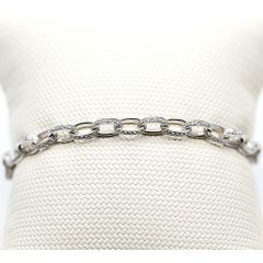 Diamond Set Belcher Bracelet
