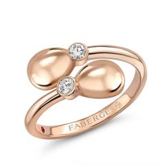 Rose Gold Crossover Ring