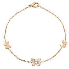 Butterfly Bracelet Rose Gold