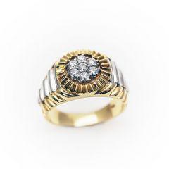 Gents Diamond Cluster Fancy Shank Ring