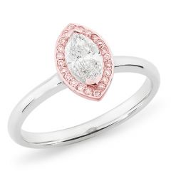 Marquise with Pink Halo