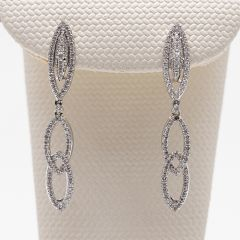 Marquise Shaped Link Drop Earrings