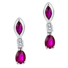 Marquise and Pear Ruby Drops