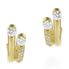 Double Brilliant and Pave Earrings