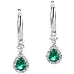 Pear Shape Emerald Drops