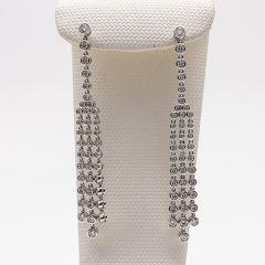 Tapered Diamond Set Drop Earrings