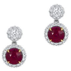 Round Ruby Drops