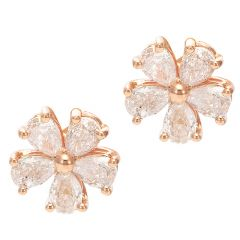 Pear Cut Flower Ear Studs