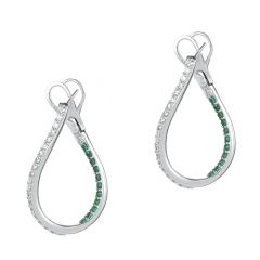 Emerald Twisted Hoops
