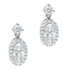 Movál Diamond Halo and Diamond Top Earrings