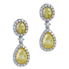 Yellow Diamond Droplets