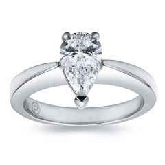 Pear Cut Solitaire