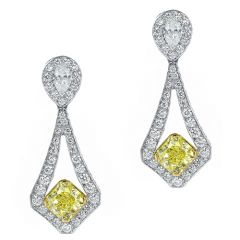 Radiant Yellow Drop Earrings