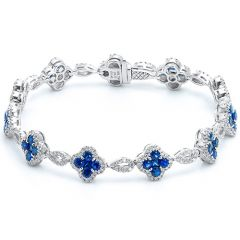 Sapphire Flower Bracelet