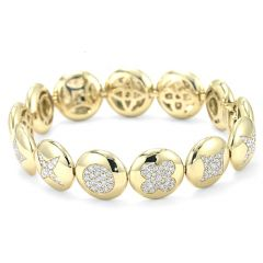 Fiore Yellow Gold Button Bracelet