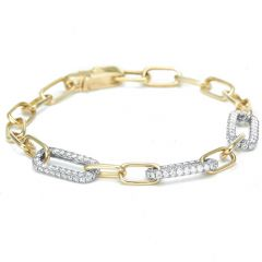 Diamond Set Linked Bracelet
