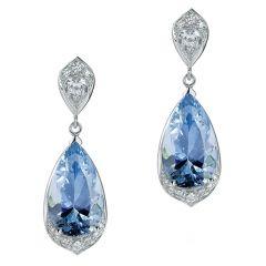 Droplets of Aquamarine and Diamonds