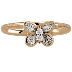 Butterfly Ring Rose Gold