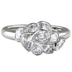 White Gold Leaf Ring