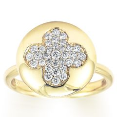 Fiore Yellow Gold Button Ring