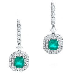 Emerald Double Halo Drops
