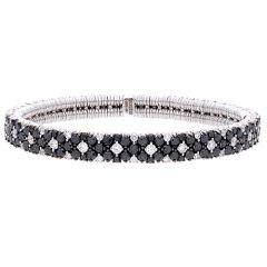 Cashmere bracelet with Black Diamonds