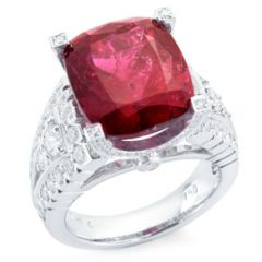 Ornately Set Rubellite