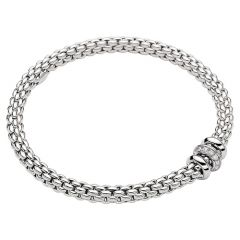 Fope Flex'it Bracelet with Diamonds White