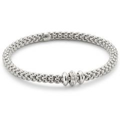 Solo Bracelet With Disks White