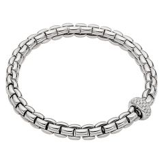 Eka Flex'it Bracelet with Diamonds White
